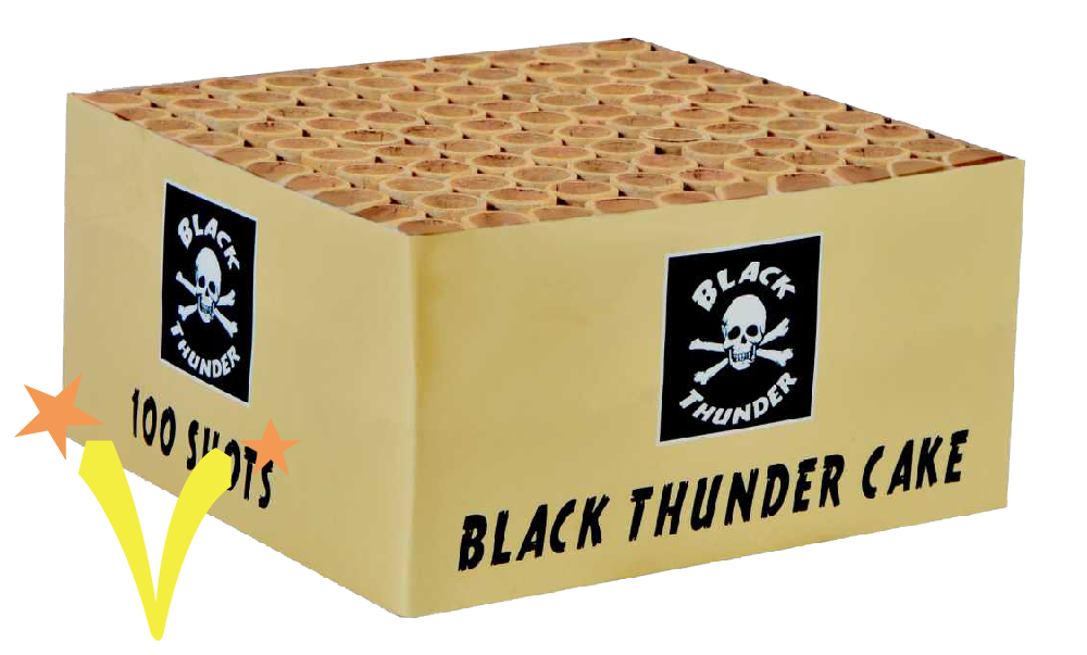 Black Thunder 100 Shots Knalcake Black Thunder Fireworks