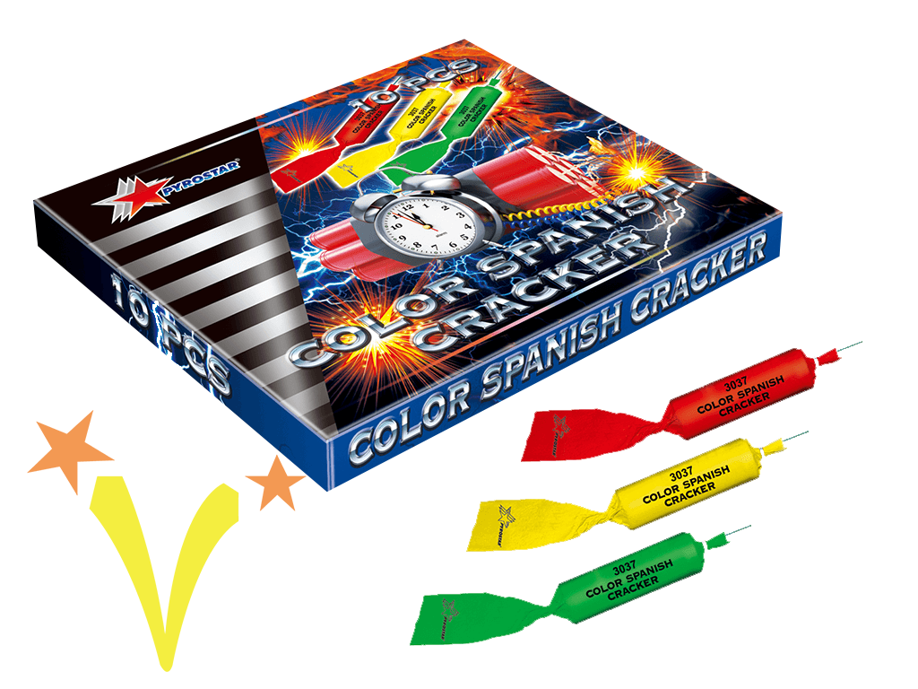 Color Spanishe Cracker Pyrostar