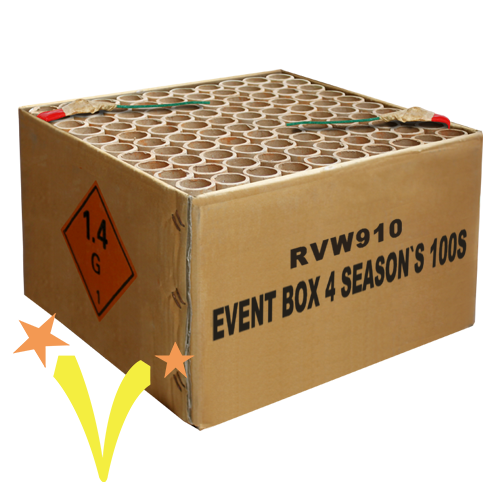 Event Box 4 Season's 100 Shots Rubro Fireworks