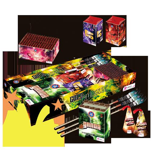 Gold Fusion Pakket Rubro Fireworks