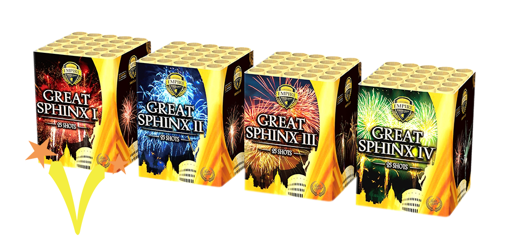 Great Sphinx Box 4 x 25 Shots Empire Fireworks