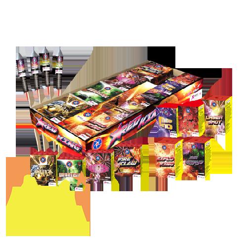 Red King Box Rubro Fireworks