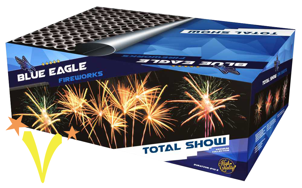 Total Show 6 x 36 Shots Blue Eagle Fireworks