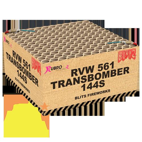 Transbomber 144 Shots Rubro Fireworks