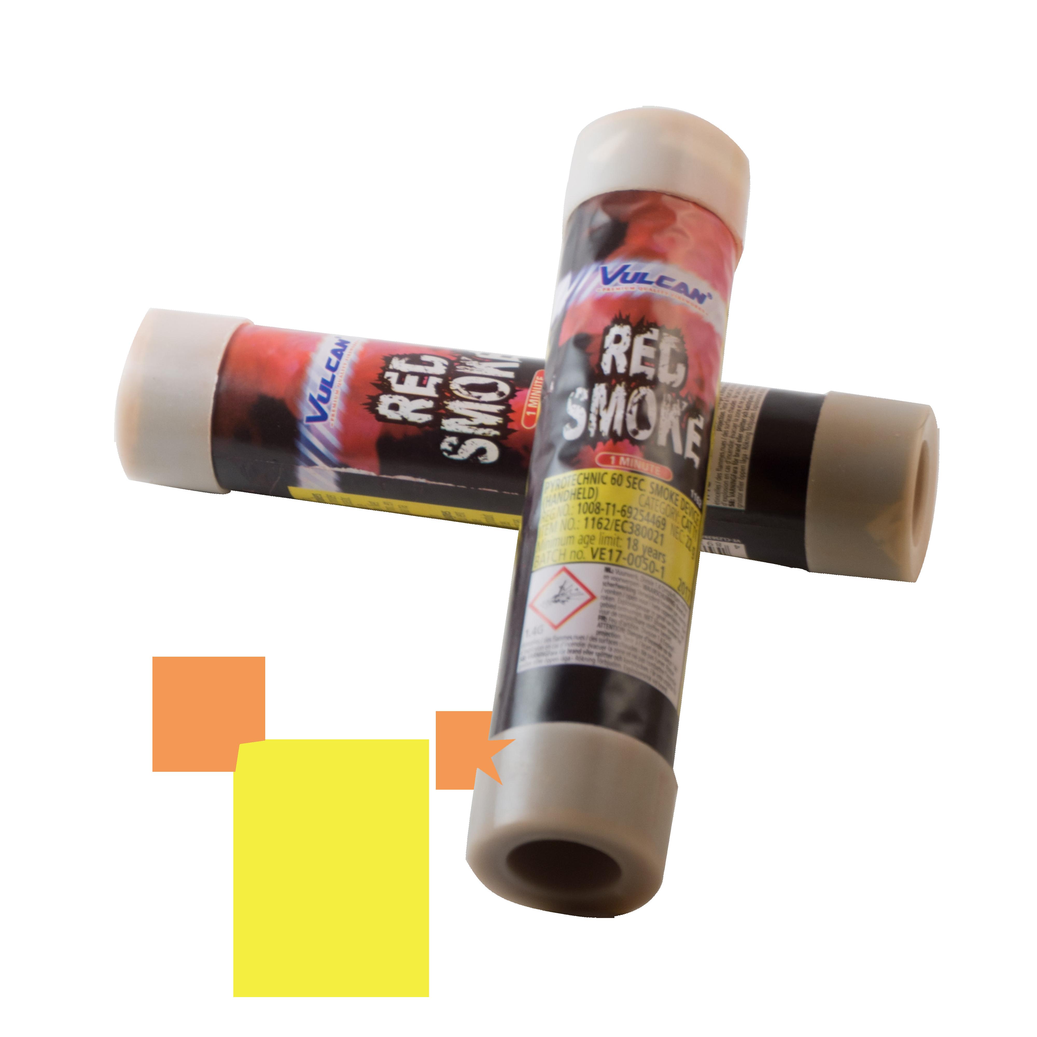Smoke Device Red – 60 sec Vulcan
