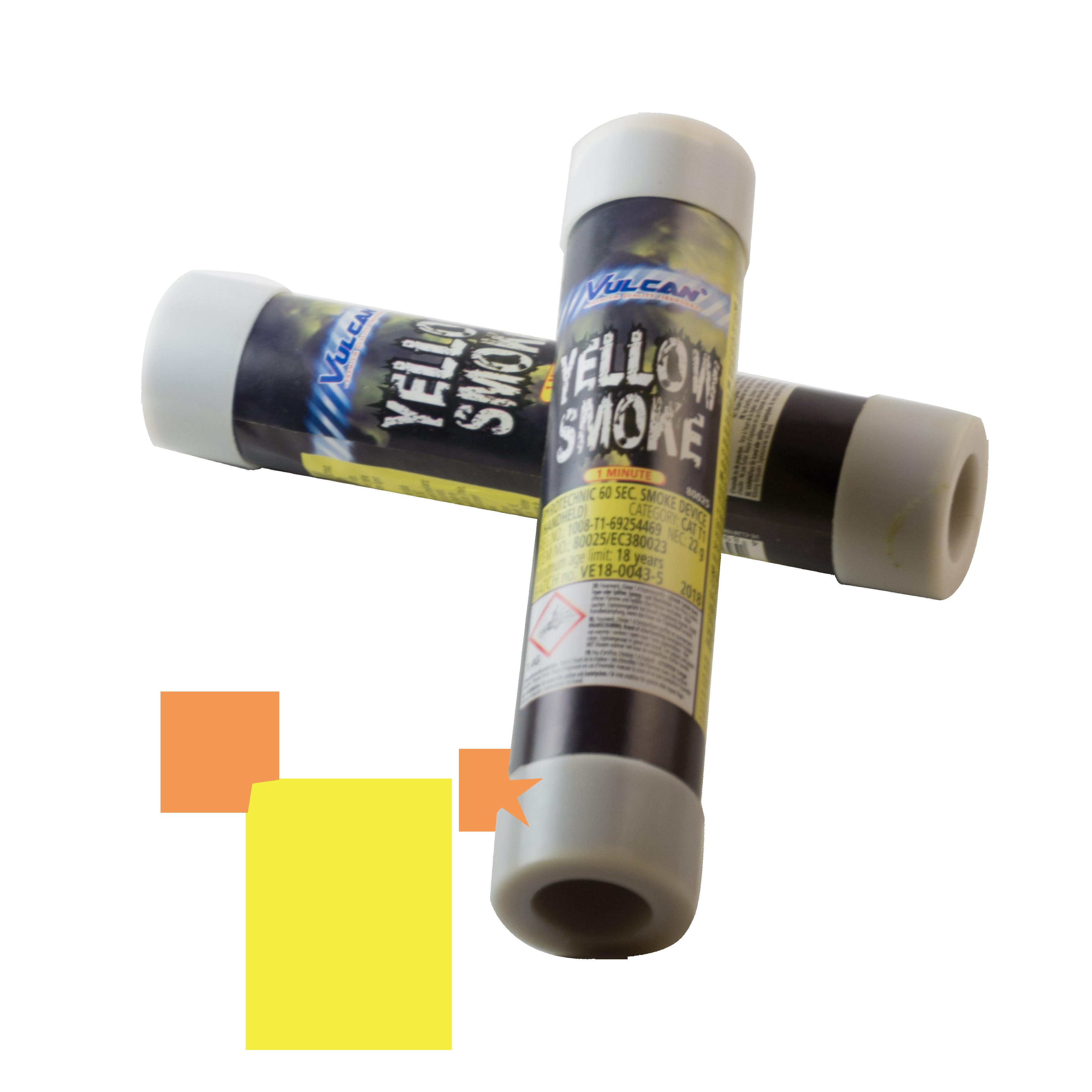 Smoke Device Yellow – 60 sec Vulcan