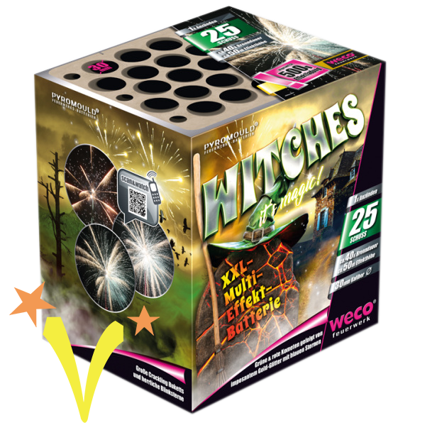 Witches 25 Shots Weco Fireworks
